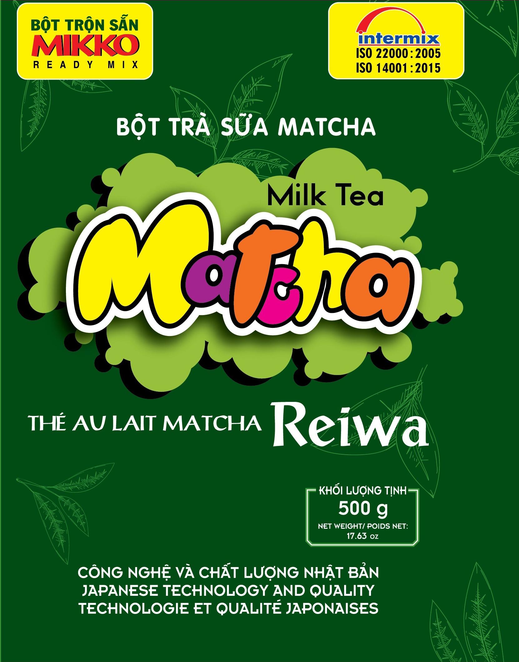 trà sữa vị matcha